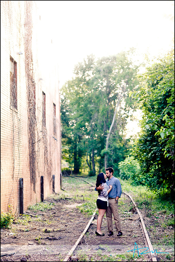 Urban engagement portrait session NC
