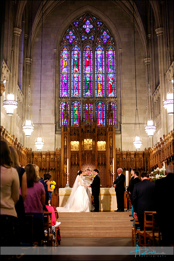 Duke Chapel wedding ceremony NC