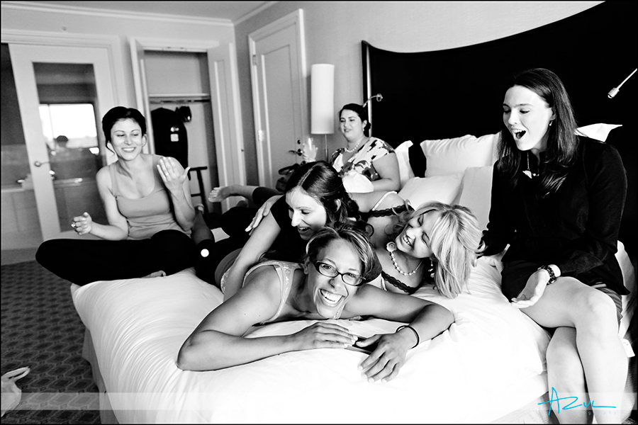Fun wedding day getting ready wedding photography Raleigh NC