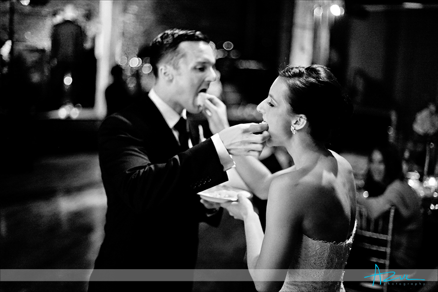 The correct way for B&G to feed wedding cake to one another