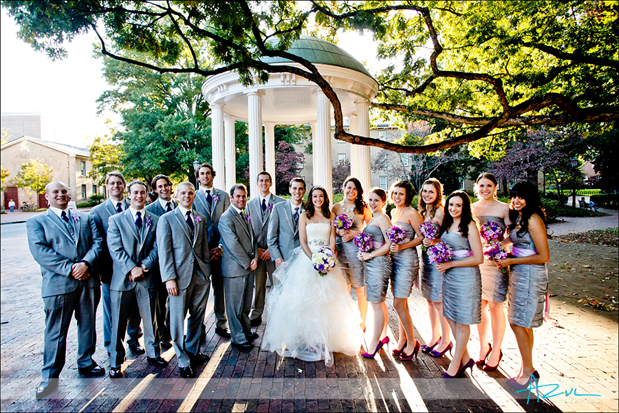 Wedding photography portraits at the old well chapel hill NC