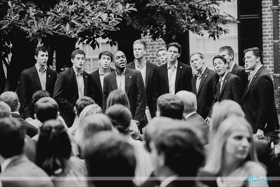 Best a cappella wedding day singers Clef Hangers in Chapel Hill NC at The Carolina Inn