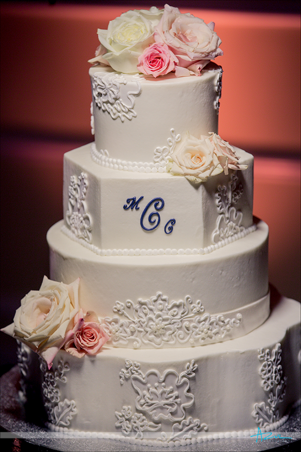 Delicious wedding day cake by Cindas Crative Cakes from Raleigh NC