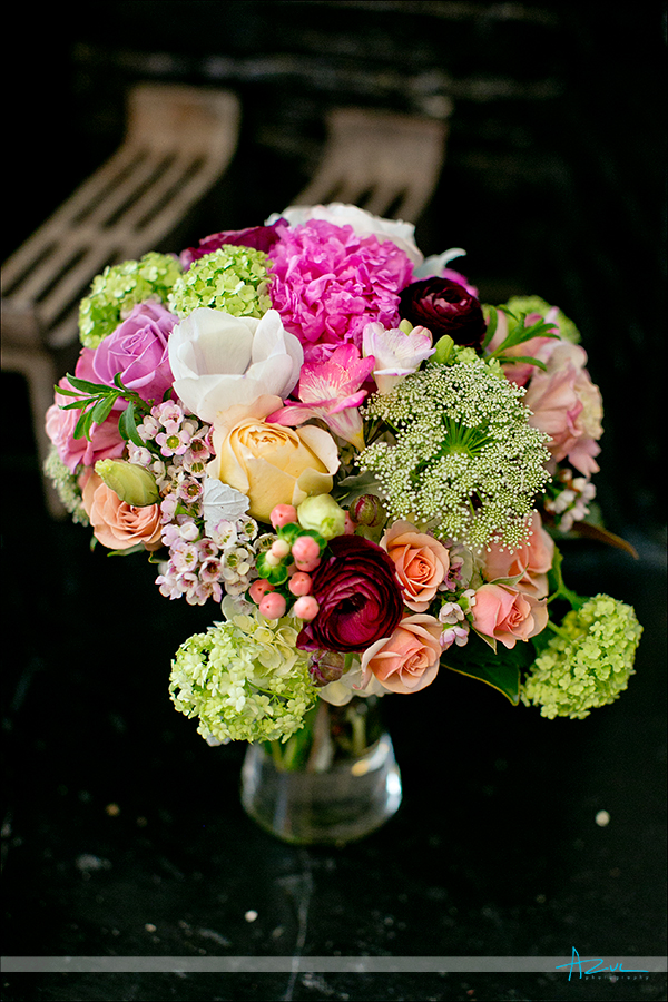 Perfect wedding day bouquet in Raleigh North Carolina The English Garden