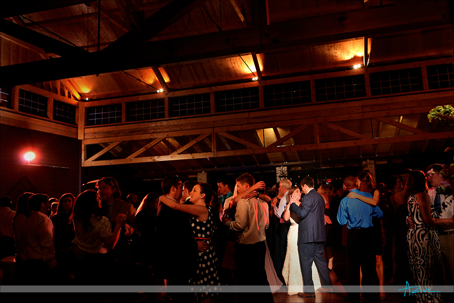 wedding day slow dancing at the wedding reception in wake forest NC at The Sutherland