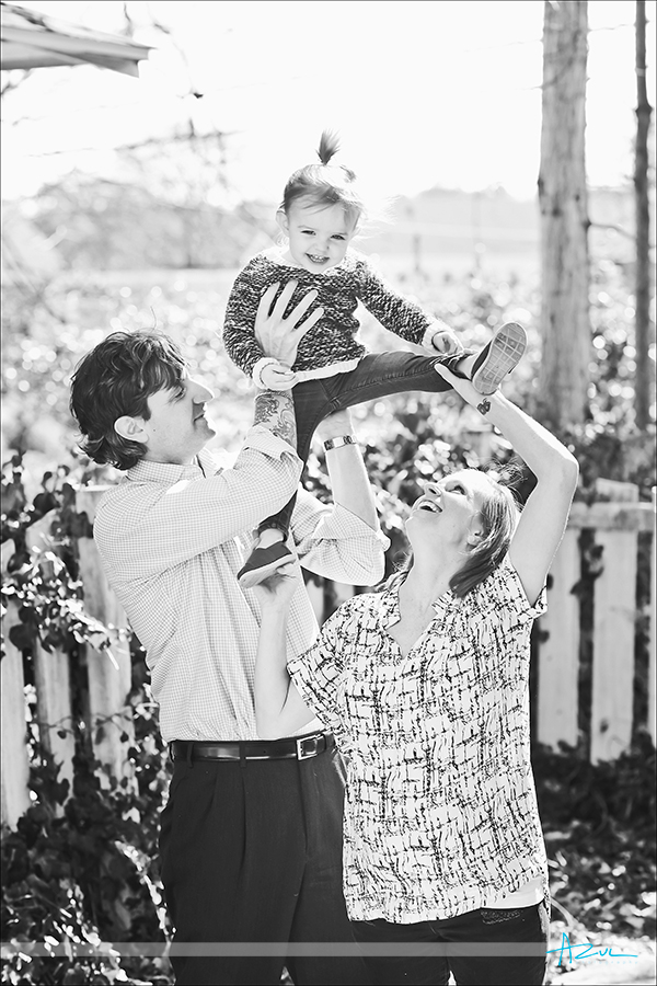 Raleigh family portrait session outside NC