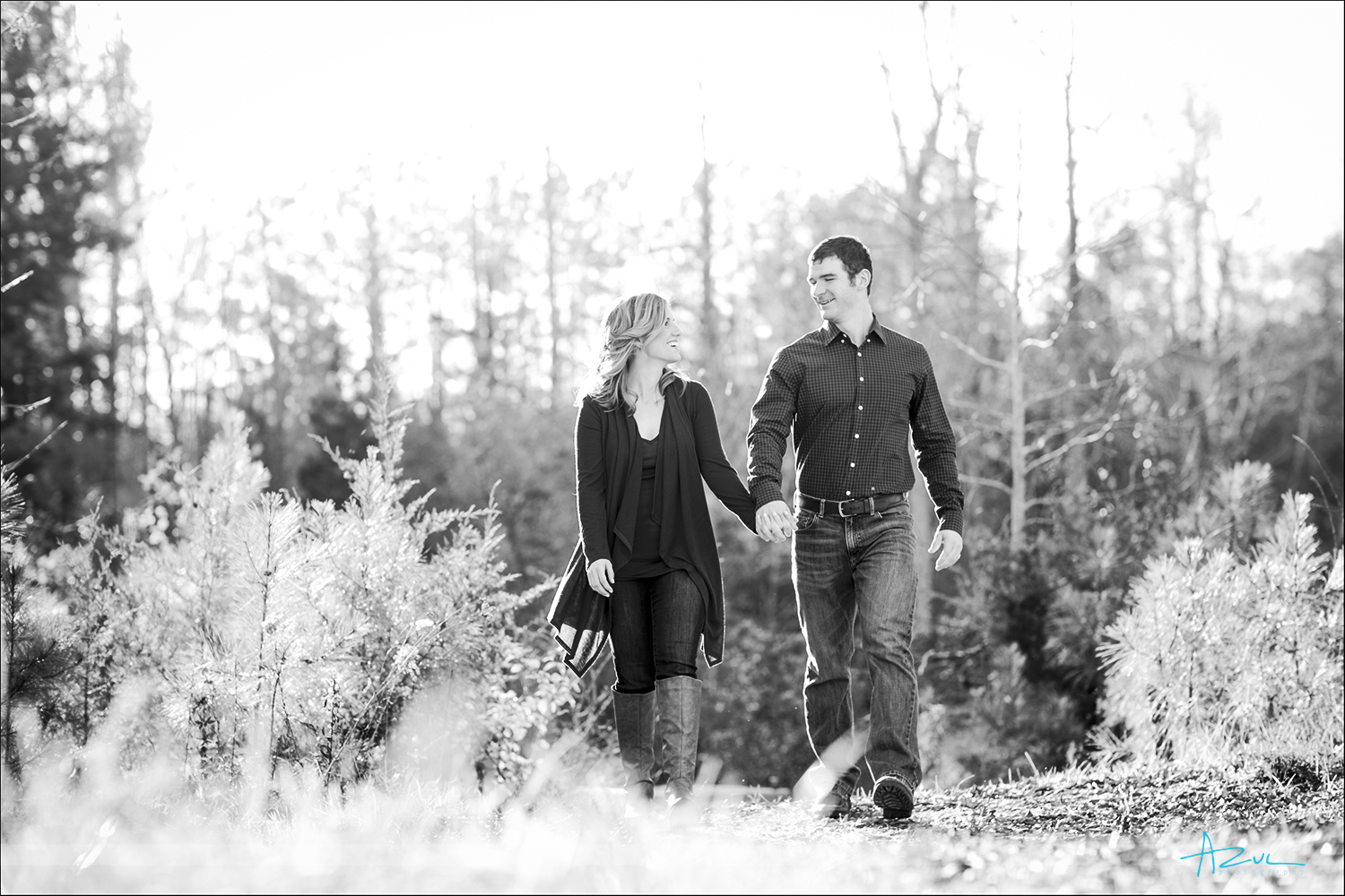 Outdoor portrait photography with couples