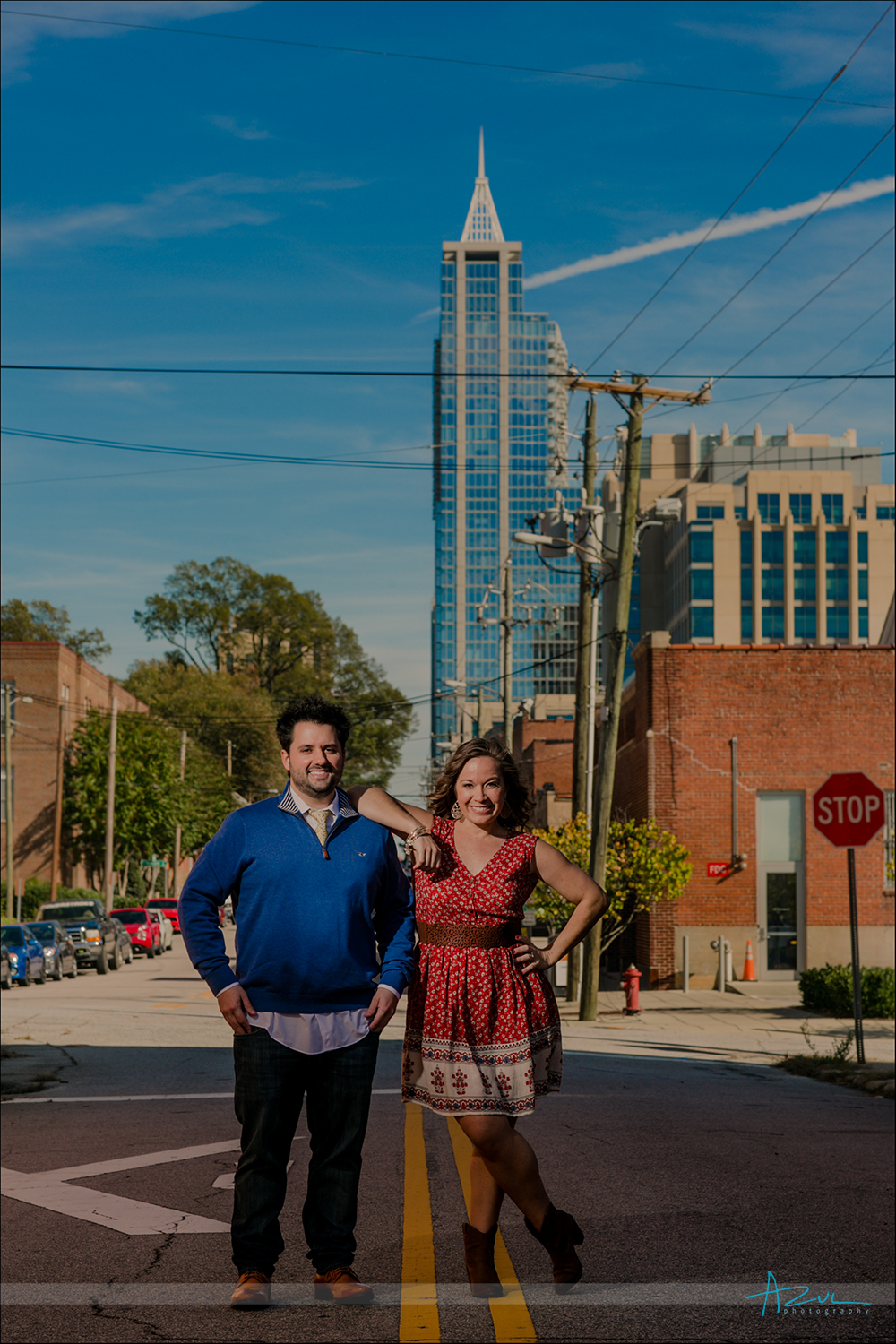 Downtown Raleigh Engagement portrait session