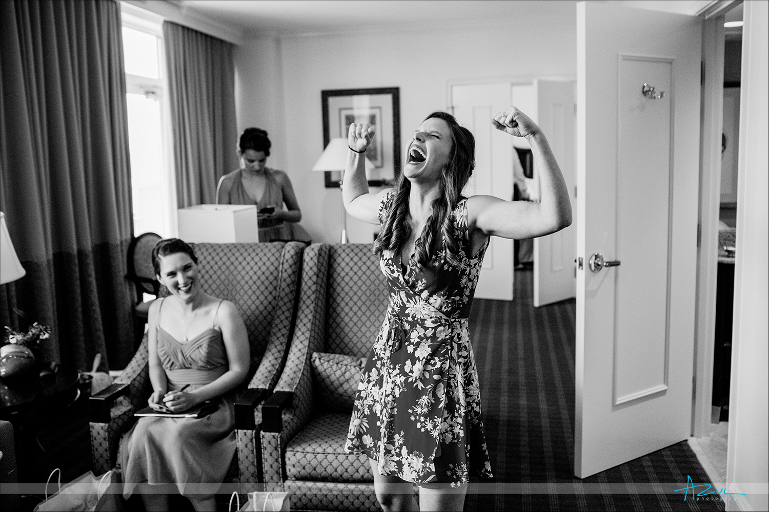 Bride getting ready for wedding in Chapel Hill, NC
