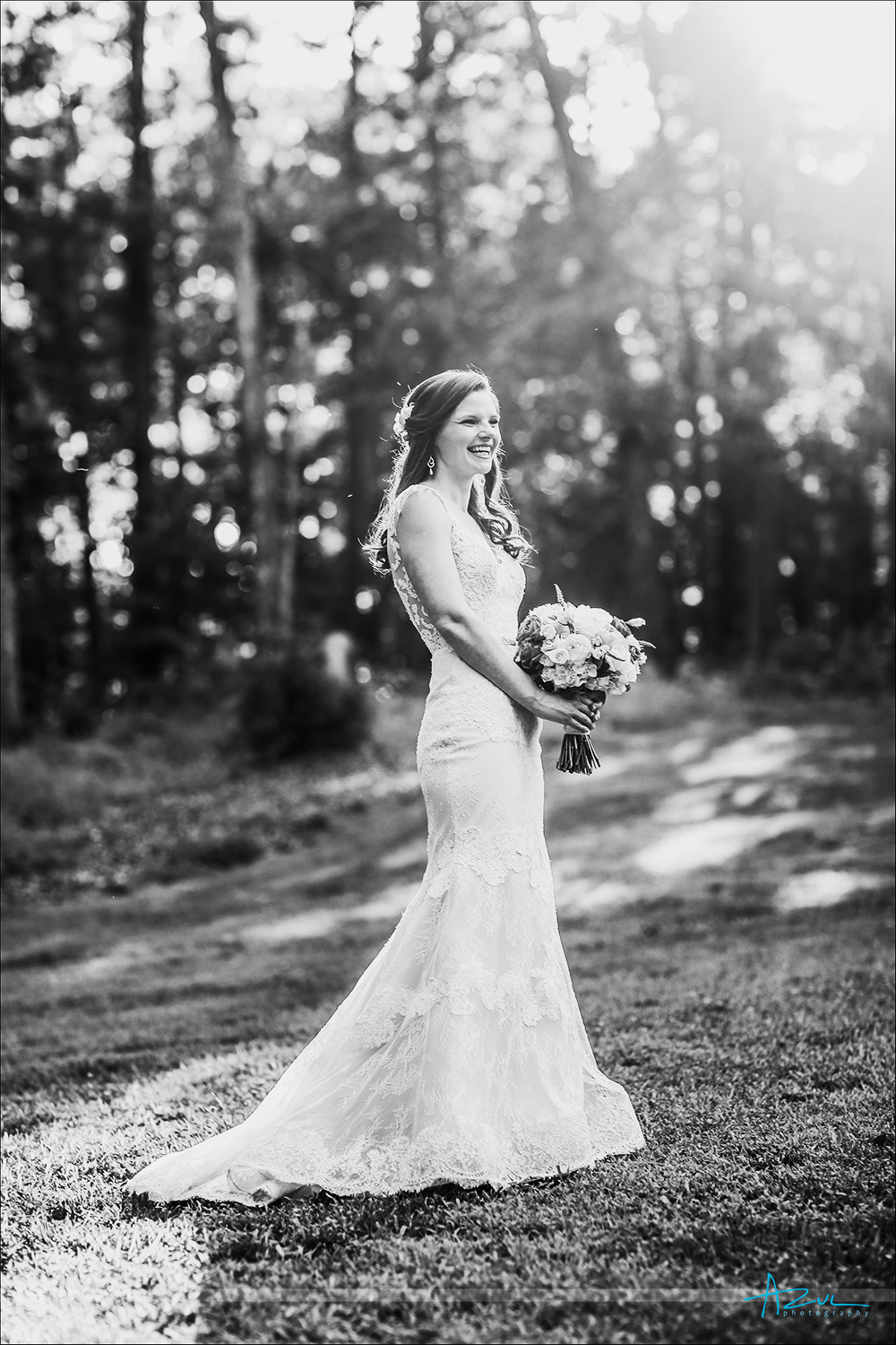 Wedding day bridal portrait photography of the bride on her big day in Chapel Hill North Carolina