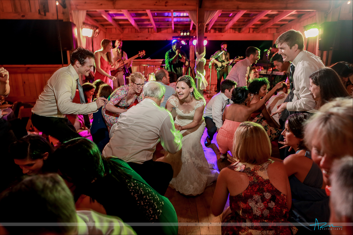 Photography of Empty Pocket, the best wedding band, getting the party started in North Carolina