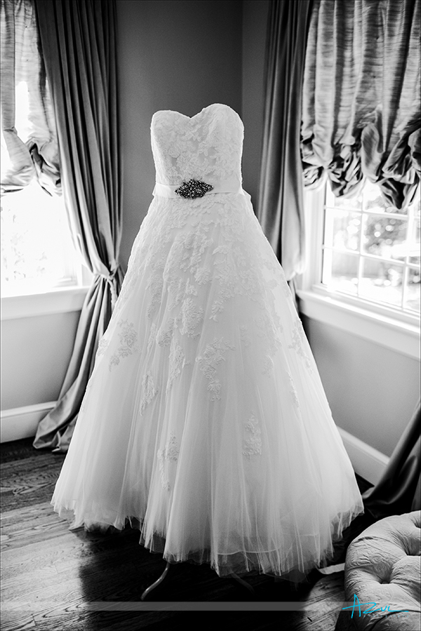 The beautiful wedding dress from Lana Addision located in Cary, NC