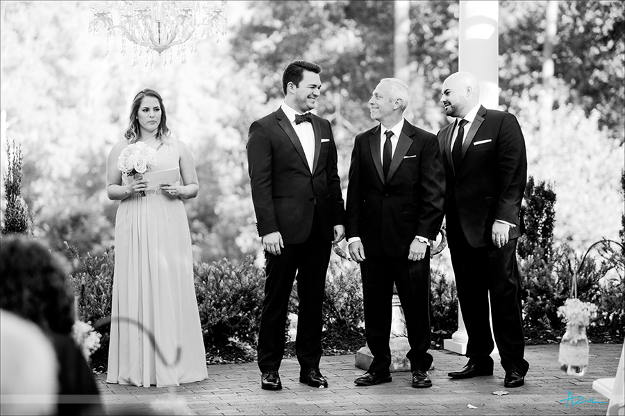 Wedding day ceremony photography taken at Highgrove Estate in Fuquay Varina, NC.