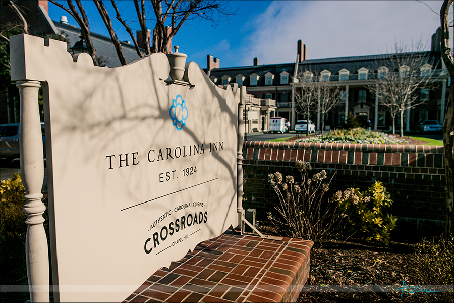 Beautiful day outside the Carolina Inn, located in Chapel Hill