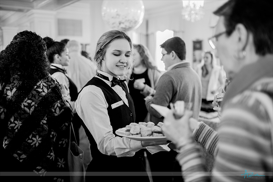Wedding day hors d'oeuvres are always a great way to get the reception going at The Carolina Inn, Chapel Hill