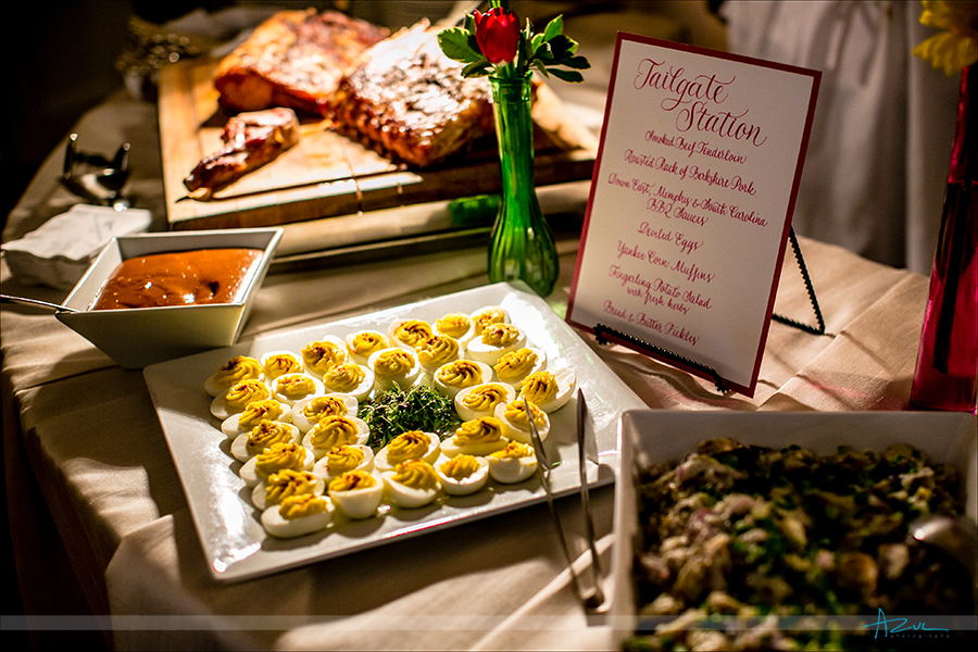 Wedding day buffet is one way for guest to enjoy dinner while at The Carolina Inn, Chapel Hill, NC