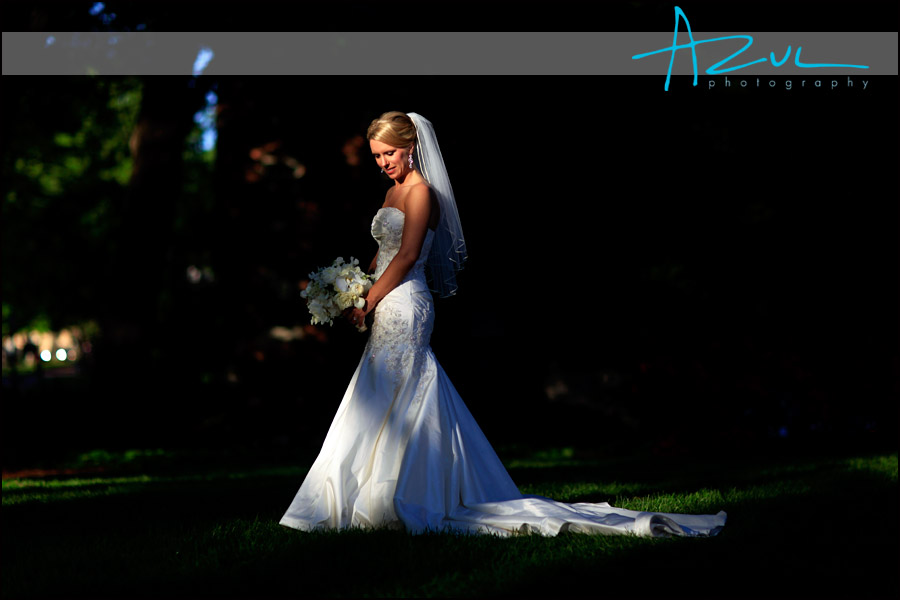Carolina Inn Bridal Portrait after the wedding. The photographer used natural light to create the image.