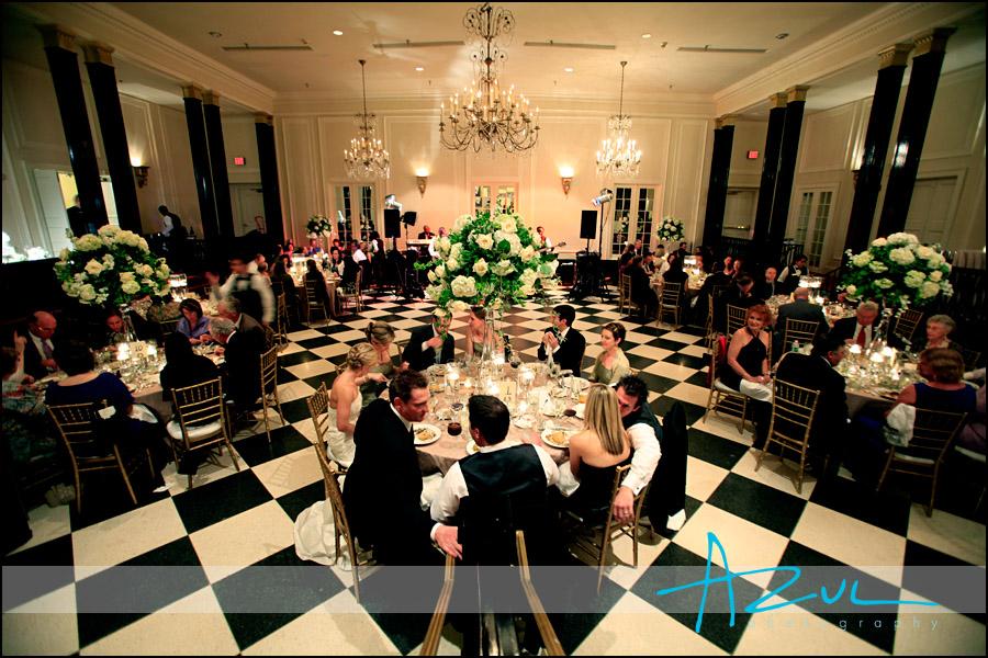 Wedding reception dinner at Carolina Inn