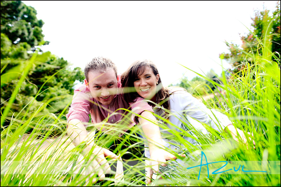 The couple has fun at the JC Raulston Arboretum in North Carolina