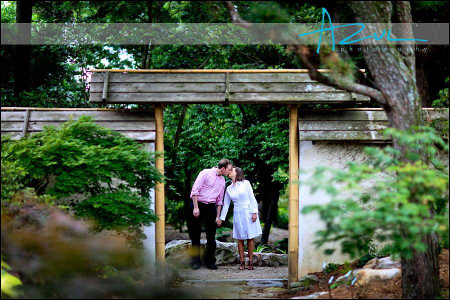 The couple share a kiss in Raleigh North Carolina.