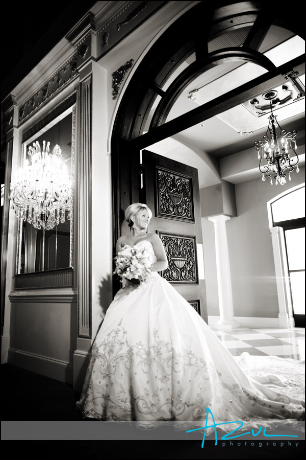 Meredith wedding bridal portraits at the Grand Marquise Ballroom near Raleigh