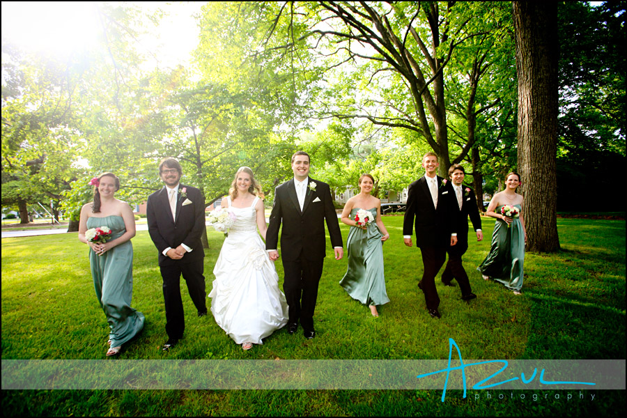 Wedding ceremony in Henderson bridal party