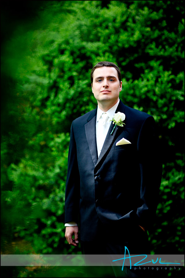 Portrait of the groom in Henderson, NC