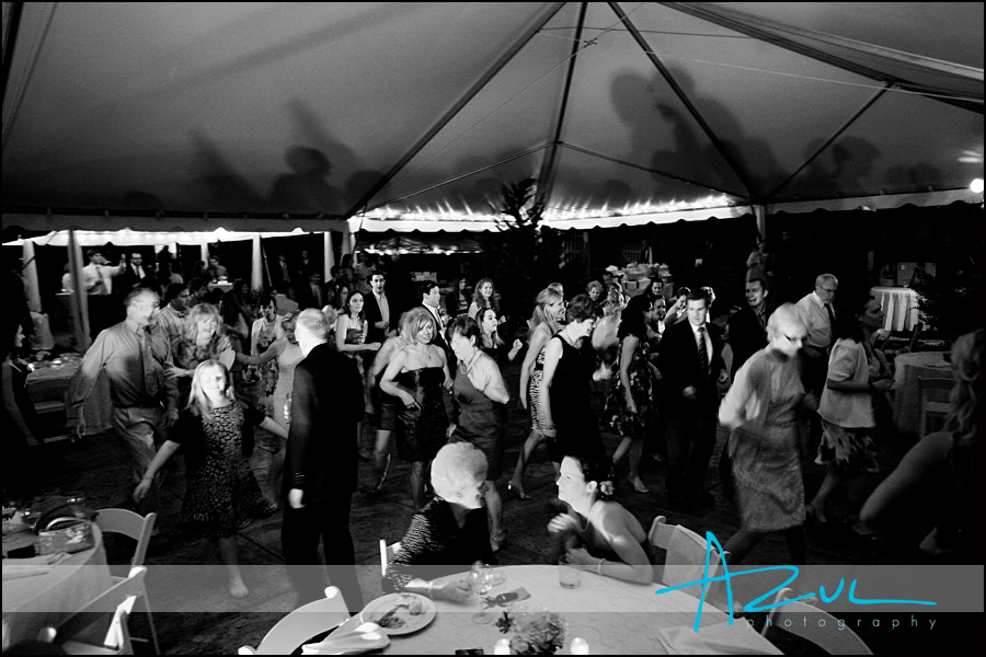 Wedding reception dancing at Lake O' The Woods NC