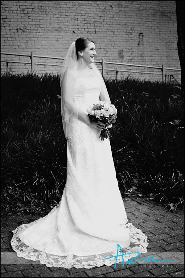 Downtown bridal portrait Raleigh