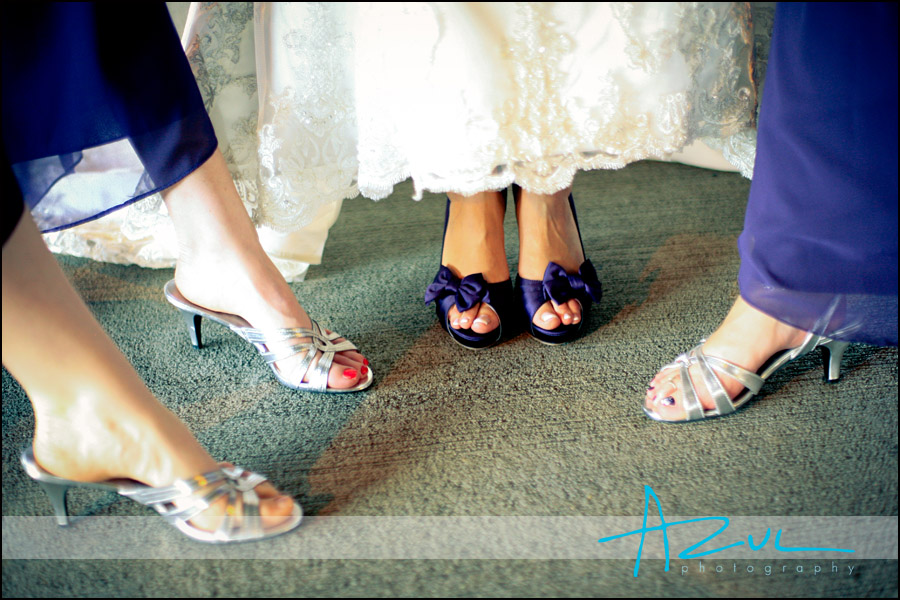 Comfortable wedding day shoes for bride in Raleigh