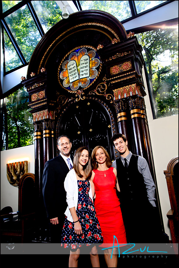 Family portrait for Bat Mitzvah