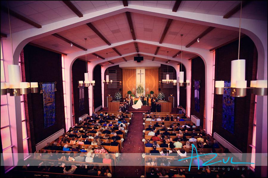 Angier Church wedding ceremony