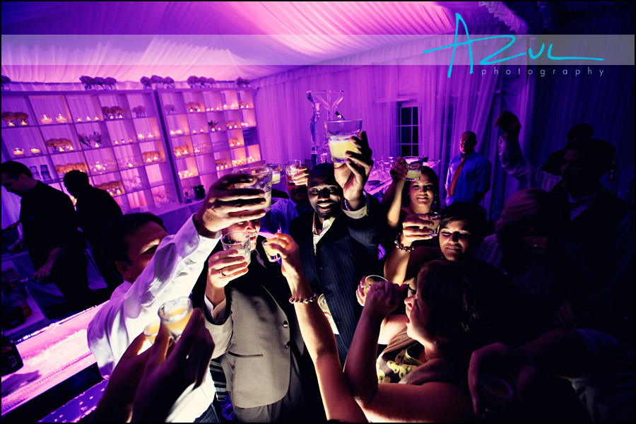 Classic Party Rentals tent and toasts