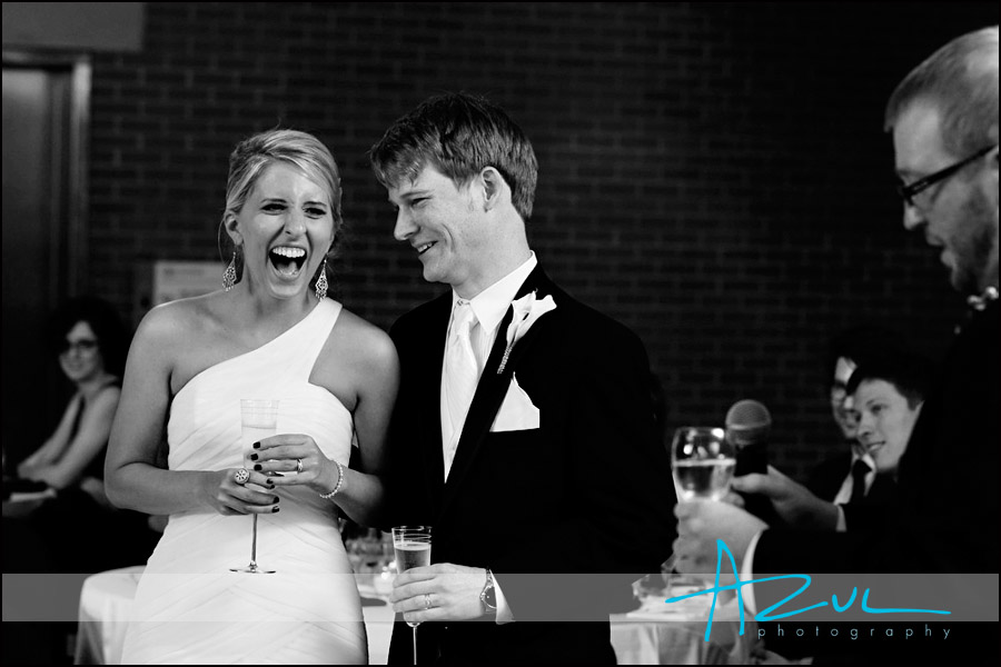 Marbles museum wedding day toast in Raleigh