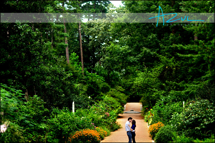 Duke Gardens engagement portrait photography