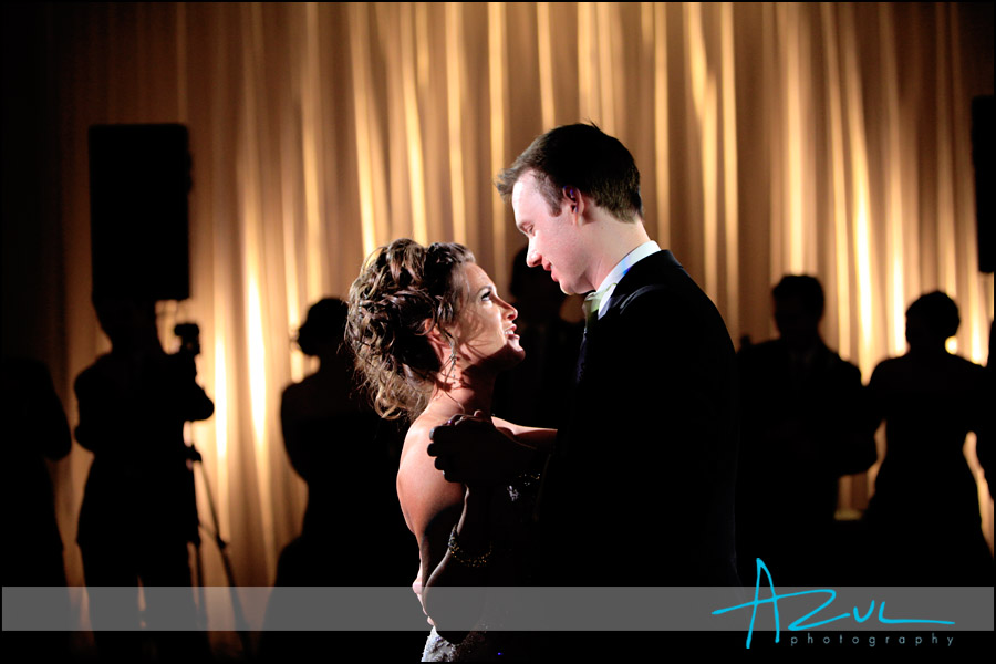 Slow dancing for wedding couples