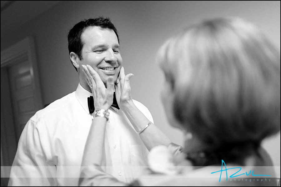 Groom before the wedding in Raleigh NC