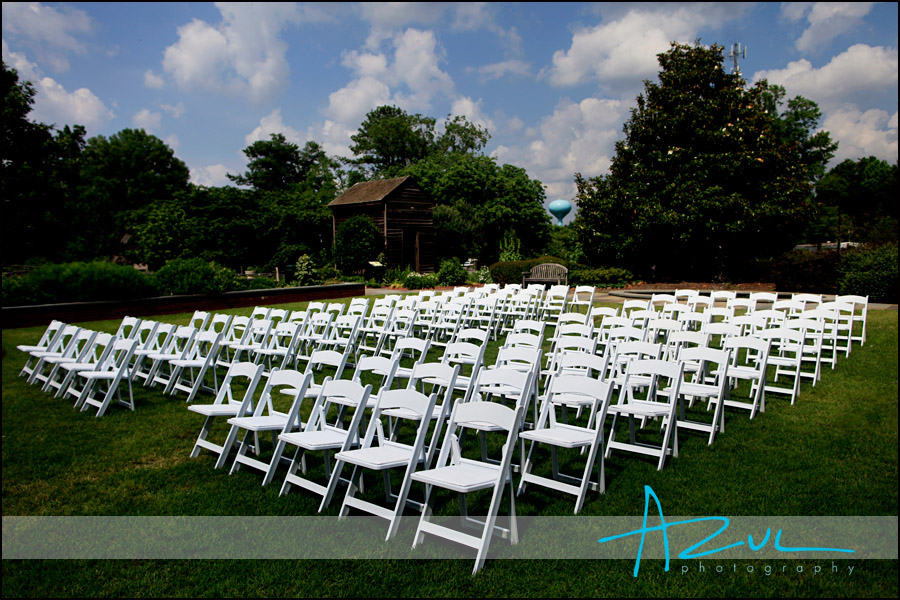 The Page Walker House Garden Wedding Ceremony Cary NC