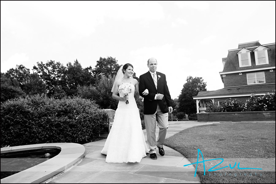 Wedding Ceremony at the Page Walker House Garden in Cary NC