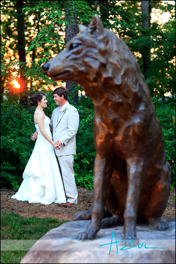 Wedding day photography portrait at The State Club, Raleigh NC