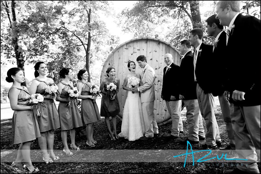 Raleigh NC wedding bridal party portrait photographer