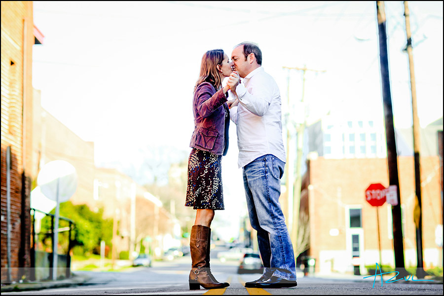 Raleigh wedding engagement urban session downtown
