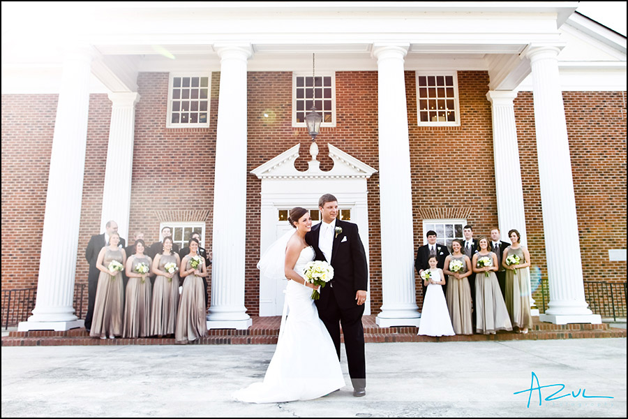 Wedding bridal party photography portraits in Raleigh NC