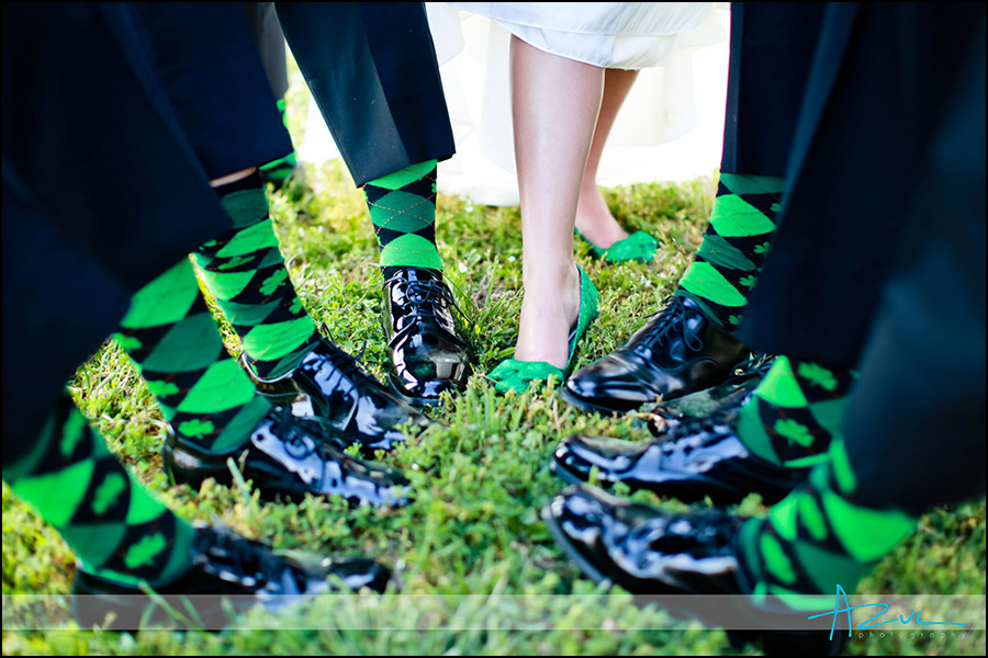 Socks for wedding day ceremony