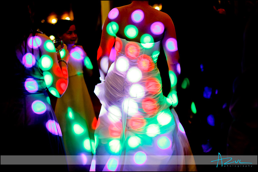 Raleigh wedding DJ lighting and dancing at The Stockroom