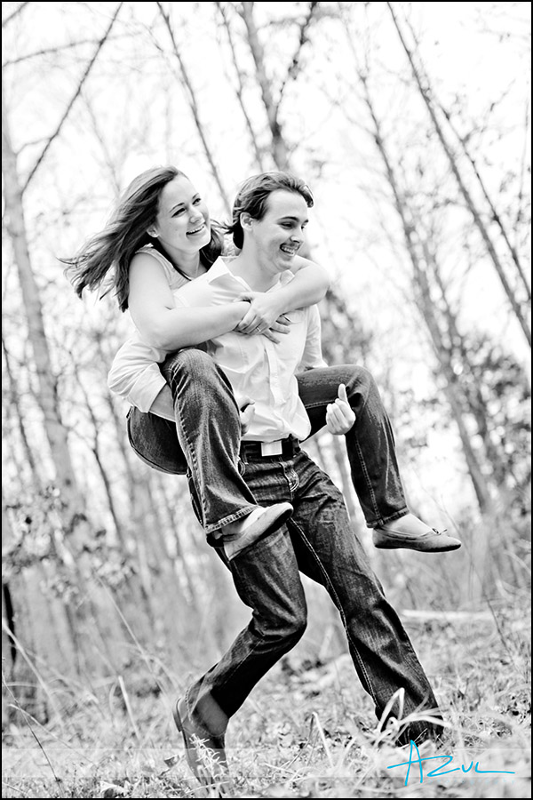 Fun photography engagement session in Durham before the wedding