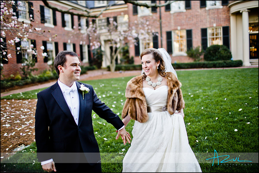 Wedding day portrait photography of bride and groom Chapel Hill NC