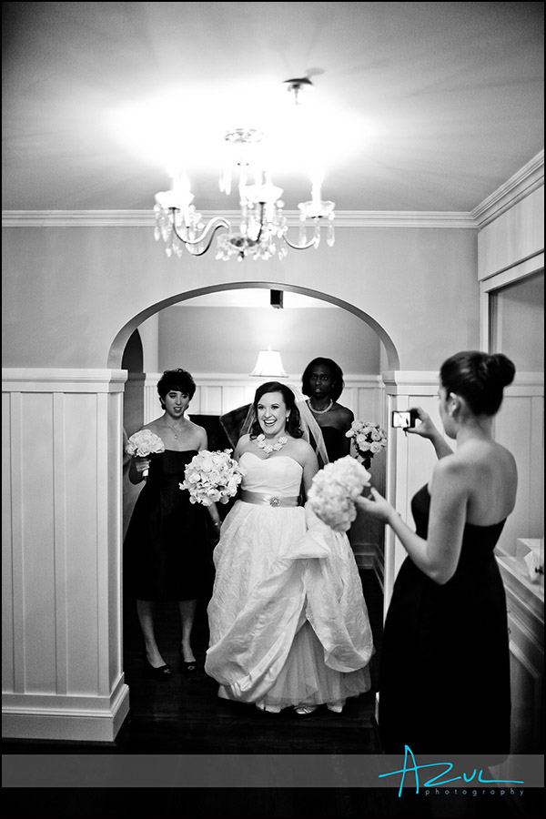 Wedding day moment at the Carolin Inn, Chapel Hill NC