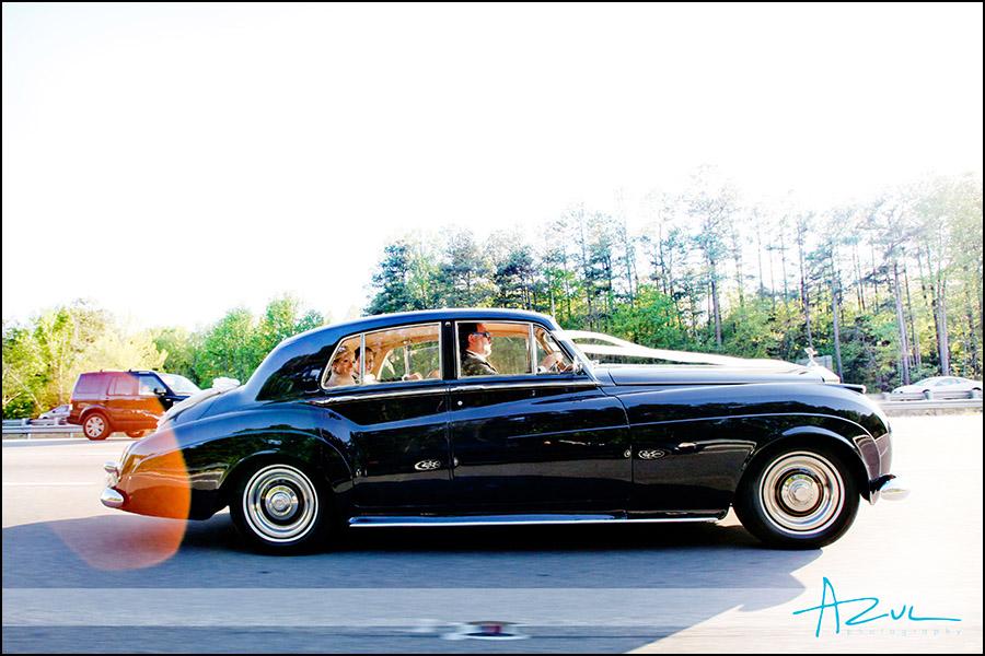 Vintage wedding transportation car Raleigh NC