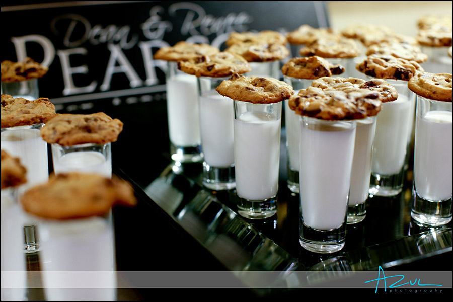 Wedding reception food for bride & groom at the Carolina Inn